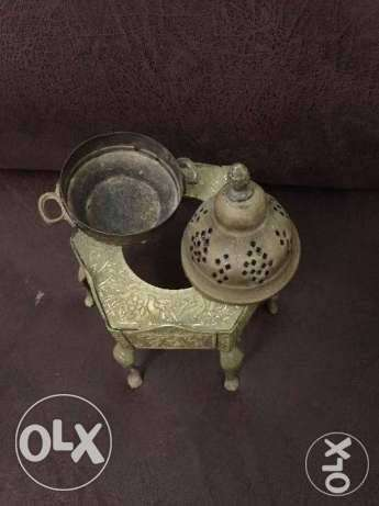 مبخرة تراثية نحاس قديم Old brass incense burner heritage أشرفية -  5