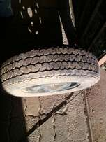 155R12 tyres with rims