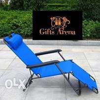 Foldable Lawn Chair - Blue