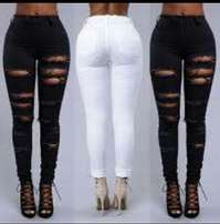 Rugged high waist jeans