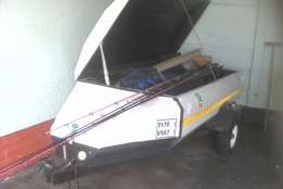 Trailer with fishing gear