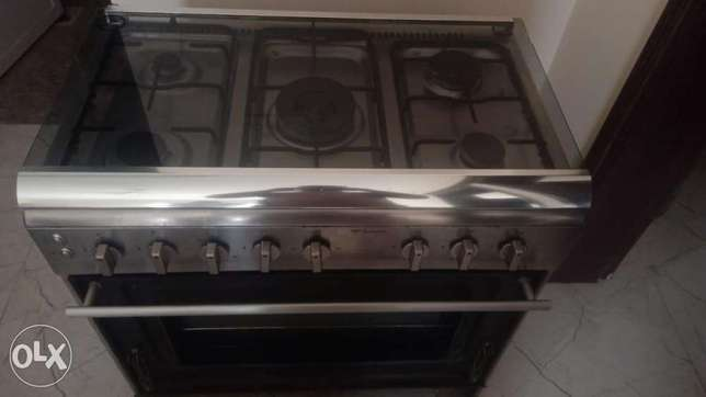 5 burnor gas stove with grilling oven