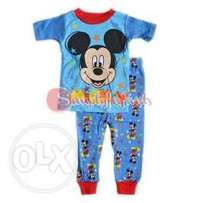 Mickey Mouse Baby Boy Cotton Tight Fit Short Sleeve Pajama Set (9 Mont