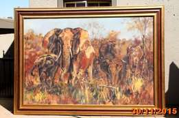 Original Elephant painting by James Straud for sale