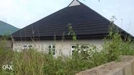 80percent completed 4 bedrooms bungalow available for sale at idi-oya