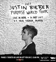 Justin Bieber's Mumbai Concert Tickets, on 10th May, 2017