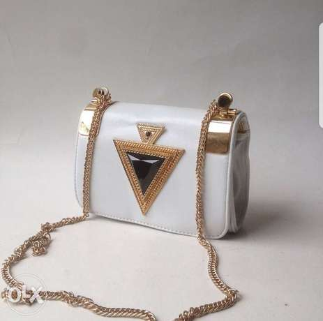 Leather Side bag with Chain strap Lagos Mainland - image 1