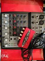 Selling a Berhinger mixer and Soundcard.Great Condition,Easy to Use