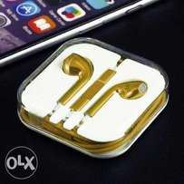 Gold plated Iphone earpods