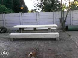 Big benches and table for sale