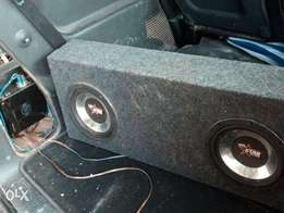 Car sub-woofer and amp