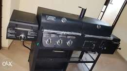 Gas/Charcoal/Smoke Grill - Up to 7 feet long grilling system