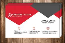 Best Professional Double-side Business Cards Design from Kshs 1000