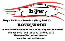 Mechanics, Auto-Body Repairs, Auto-Electrician