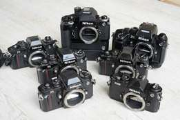 Nikon 35mm film cameras and lenses Wanted