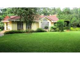 Bungalow House on half an acre located within KCB Leadership centre