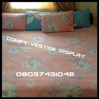 PINK & BLUE COMBO 6×7 bedsheet with 4 Pillowcases
