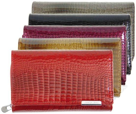 3ff76b73dc047 Duży elegancki pojemny skórzany portfel damski Jennifer Jones 5261 Lublin -  image 2