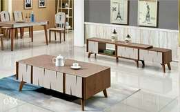 Quality pure wood and marble tv stand and center table