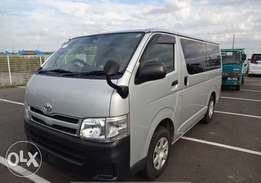 Toyota hiace 2012,7l mannual BOX new model Diesel 2wd, finance terms
