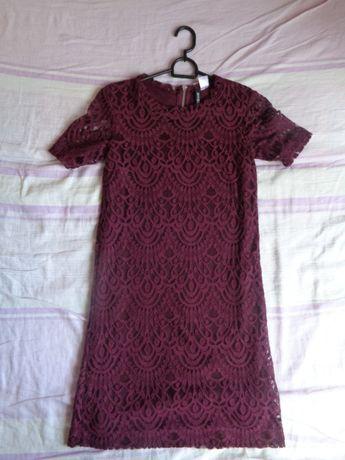 62acdb11d8 Cudna Sukienka krótki rękaw koronkowa andrzejki sylwester bal r 34 H M  Lublin - image 1