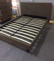 Bargain queen size suede base and headboard