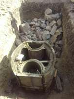Biodigesters (Bio a septic tanks) installation