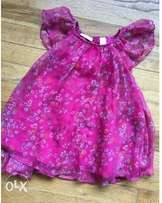 1year old fuschia pink floral dress