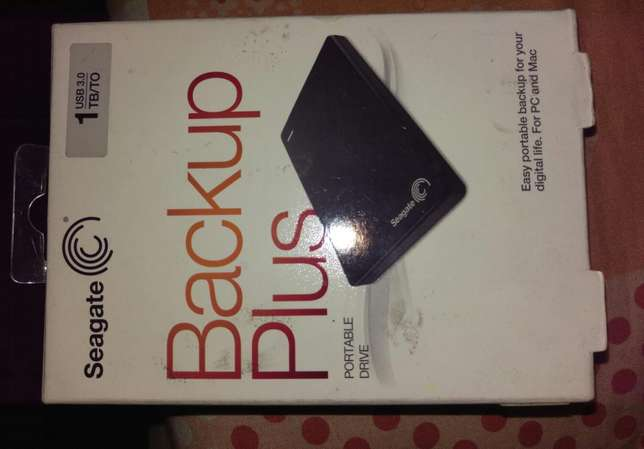 New in box 1TB Seagate backup plus external HDD Port Harcourt - image 1