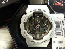 Casio G-Shock Trending Series GA100SD-8A Digital Watch - Ice Gray