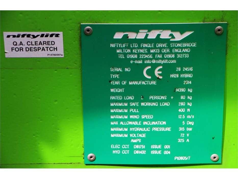 Niftylift HR28 HYBRID - 2014 - image 6