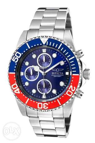Invicta Men's 1771 Pro Diver Collection Stainless Steel Chronograph