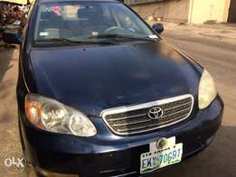 Blue Toyota Corolla 03' with ac chilling for sale