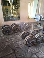 170KG Weight plates R16 Per Kilogram.sell as set.