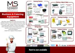 RENT TO OWN Business & Catering Equipment! NO Deposit required!