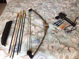 cross bow and beginner bow