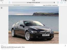 wanted bmw 645i/650i spares