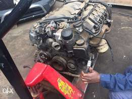 Used Engine with gearbox complete