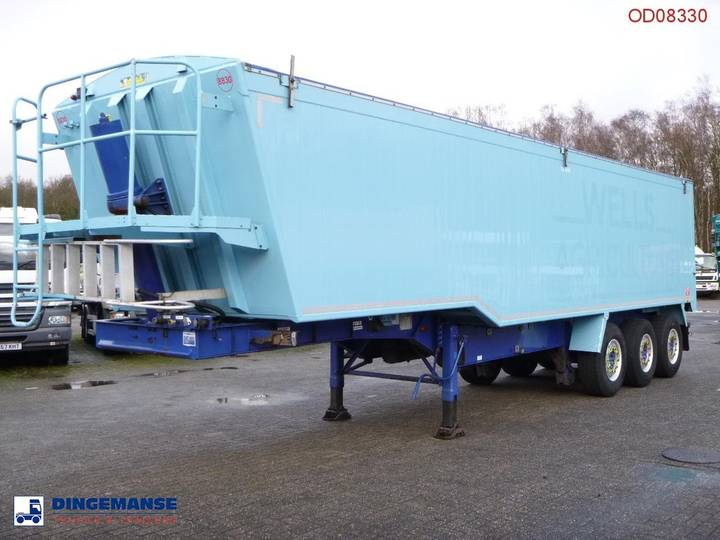 Weightlifter Tipper trailer alu 51.5 m3 + tarpaulin - 2012