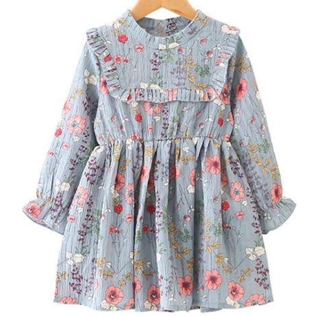 1c79604441 Przepiękna sukienka w kwiaty długi rękaw 2 do 5 lat lato wiosna Banino -  image 1