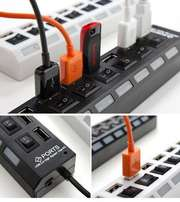 BRAND NEW 7 port USB 2.0 Hubs with On/Off switches on Sale!