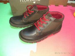 Кожанные коричневые демисезонные ботинки 34р 23 см стелька 1ec4dbf6e9d33