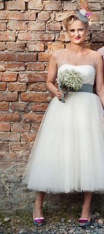 Suknia ślubna Retro Vintage Borkowo Olxpl