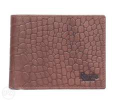 Pure leather wallet-natural print