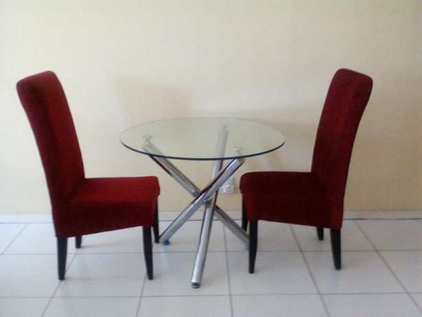 Two chairs with glass table for 2200 all of them Or Tambo Int Airport - image 3