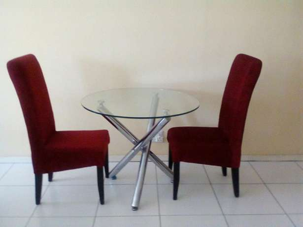 Two chairs with glass table for 2200 all of them Or Tambo Int Airport - image 5