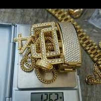Pure solid 18 karat hand chain for