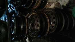 Various standard/steal Rims size 13 to 16