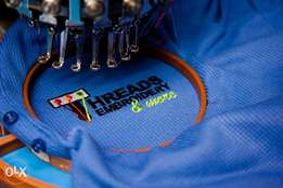 Embroidery Services and bulk tshirts printing call for more info.
