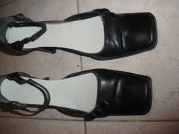 dfba44cd Czarne włoskie czółenka r. 39/40, skóra, buty damskie